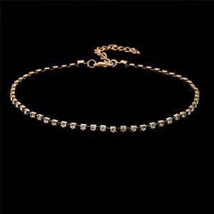 Jewelry - NWOT Dainty Gold Rhinestone Choker